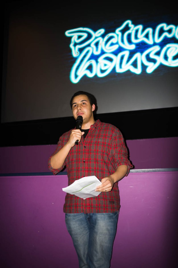 Your friendly host (that's me) introduces the screening