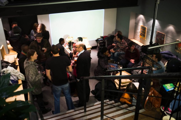 Crowds gather downstairs in our special bar area for pizza and chat